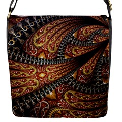 Patterns Background Dark  Flap Messenger Bag (s) by amphoto