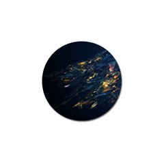 Spots Dark Lines Glimpses 3840x2400 Golf Ball Marker (4 Pack) by amphoto