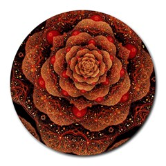 Flower Patterns Petals  Round Mousepads by amphoto