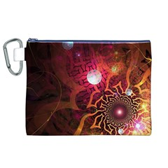 Explosion Background Bright  Canvas Cosmetic Bag (xl) by amphoto