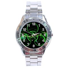 Radiation Sign Spot  Stainless Steel Analogue Watch by amphoto
