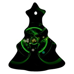 Radiation Sign Spot  Ornament (christmas Tree)  by amphoto