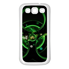 Radiation Sign Spot  Samsung Galaxy S3 Back Case (white) by amphoto