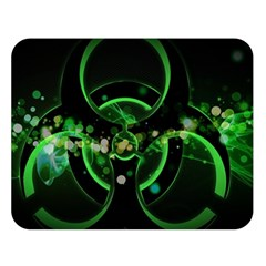 Radiation Sign Spot  Double Sided Flano Blanket (large)  by amphoto