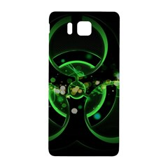 Radiation Sign Spot  Samsung Galaxy Alpha Hardshell Back Case by amphoto
