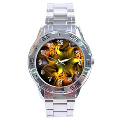 Art Fractal  Stainless Steel Analogue Watch by amphoto