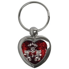 Patterns Bright Background  Key Chains (heart)  by amphoto