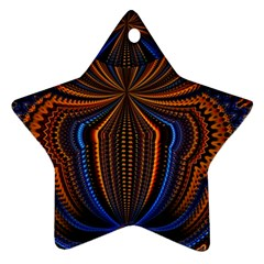 Patterns Light Dark Star Ornament (two Sides) by amphoto