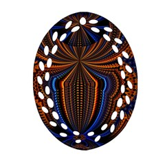 Patterns Light Dark Oval Filigree Ornament (two Sides) by amphoto
