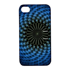 Patterns Circles Rays  Apple Iphone 4/4s Hardshell Case With Stand by amphoto