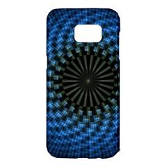 Patterns Circles Rays  Samsung Galaxy S7 Edge Hardshell Case by amphoto