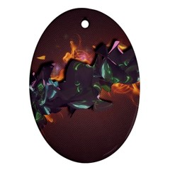 Abstraction Patterns Stripes  Ornament (oval) by amphoto