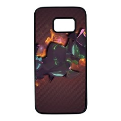Abstraction Patterns Stripes  Samsung Galaxy S7 Black Seamless Case by amphoto