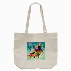 Parrot Abstraction Patterns Tote Bag (cream) by amphoto