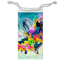 Parrot Abstraction Patterns Jewelry Bag by amphoto
