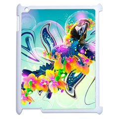 Parrot Abstraction Patterns Apple Ipad 2 Case (white) by amphoto