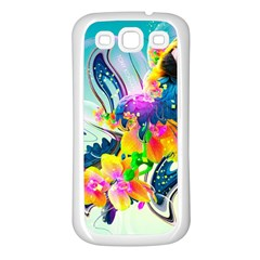 Parrot Abstraction Patterns Samsung Galaxy S3 Back Case (white) by amphoto