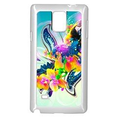 Parrot Abstraction Patterns Samsung Galaxy Note 4 Case (white) by amphoto