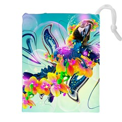 Parrot Abstraction Patterns Drawstring Pouches (xxl) by amphoto