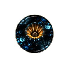 Fractal Flowers Abstract  Hat Clip Ball Marker by amphoto