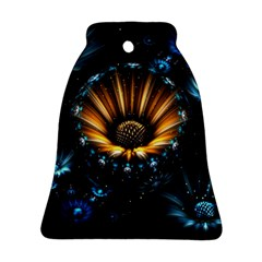 Fractal Flowers Abstract  Bell Ornament (two Sides) by amphoto