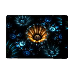 Fractal Flowers Abstract  Apple Ipad Mini Flip Case by amphoto