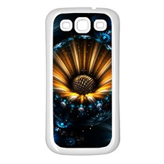 Fractal Flowers Abstract  Samsung Galaxy S3 Back Case (white) by amphoto