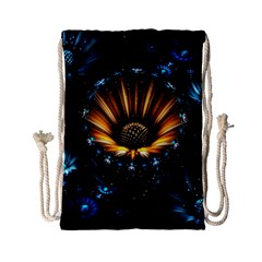 Fractal Flowers Abstract  Drawstring Bag (small) by amphoto