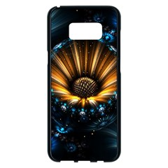 Fractal Flowers Abstract  Samsung Galaxy S8 Plus Black Seamless Case by amphoto