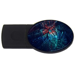 Fractal Flower Shiny  Usb Flash Drive Oval (2 Gb) by amphoto