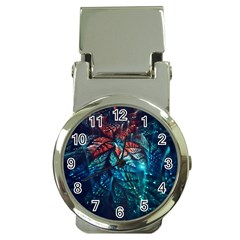 Fractal Flower Shiny  Money Clip Watches by amphoto
