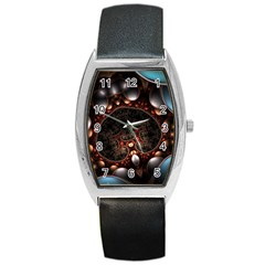 Pattern Fractal Abstract 3840x2400 Barrel Style Metal Watch by amphoto
