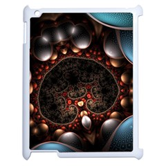 Pattern Fractal Abstract 3840x2400 Apple Ipad 2 Case (white) by amphoto