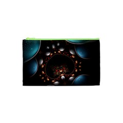 Pattern Fractal Abstract 3840x2400 Cosmetic Bag (xs) by amphoto