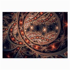 Fractal Patterns Abstract  Large Glasses Cloth (2 Side) by amphoto