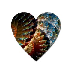 Fractal Patterns Abstract 3840x2400 Heart Magnet by amphoto