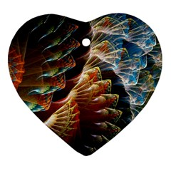 Fractal Patterns Abstract 3840x2400 Heart Ornament (two Sides) by amphoto