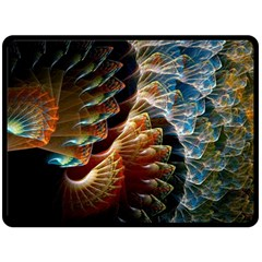 Fractal Patterns Abstract 3840x2400 Double Sided Fleece Blanket (large)  by amphoto