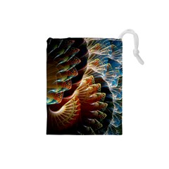 Fractal Patterns Abstract 3840x2400 Drawstring Pouches (small)  by amphoto