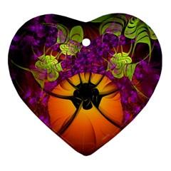 Patterns Lines Purple  Ornament (heart) by amphoto
