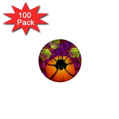 Patterns Lines Purple  1  Mini Buttons (100 Pack)  by amphoto