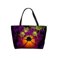 Patterns Lines Purple  Shoulder Handbags by amphoto