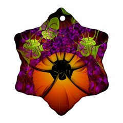 Patterns Lines Purple  Snowflake Ornament (two Sides) by amphoto