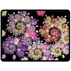 Abstract Patterns Fractal  Double Sided Fleece Blanket (large)  by amphoto
