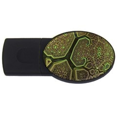 Fractal Weave Shape  Usb Flash Drive Oval (2 Gb) by amphoto