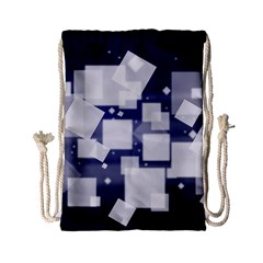 Squares Shapes Many  Drawstring Bag (small) by amphoto