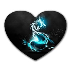 Dragon Classical Light  Heart Mousepads by amphoto