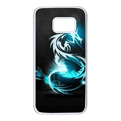 Dragon Classical Light  Samsung Galaxy S7 White Seamless Case by amphoto