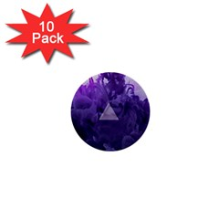 Smoke Triangle Lilac  1  Mini Buttons (10 Pack)  by amphoto
