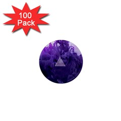 Smoke Triangle Lilac  1  Mini Magnets (100 Pack)  by amphoto